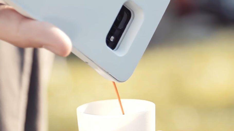 Handyhülle mit Kaffee